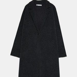 ZARA LONG WOOL COAT SIZE L #597-BD4